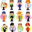 Cartoon characters of different professions — Stock Vector #30817121