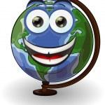 Cartoon school globe — Stock Vector #30817131