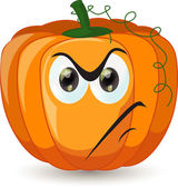 Cartoon funny pumpkin — Stock Vector