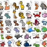 Set of cute cartoon animals — Stock Vector #33001511