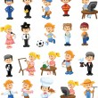 Cartoon characters of different professions — Stock Vector #33002325