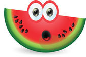 Cartoon cute watermelon — Stock Vector