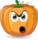 Cartoon cute pumpkin — Stock Vector