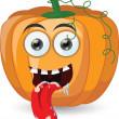 Cartoon pumpkin for halloween — Imagen vectorial