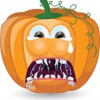 Cartoon pumpkin for halloween — Stockvektor