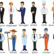 Cartoon characters of different professions — Stockvectorbeeld