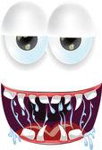 Cartoon monsters face — Stockvektor
