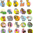 Set of cute cartoon animals — Stock Vector