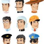 Comic figuren von verschiedenen berufen stockilllustration