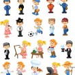 Cartoon characters of different professions — Stock Vector #35804021