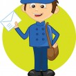 Stock Vector: Cartoon character-postman