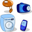 Household appliances — Stock Vector