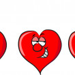 Hearts - love, flirting, unhappy — Imagen vectorial
