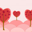 Trees love — Image vectorielle