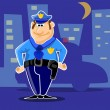 Fun police guard the city — Stock Vector