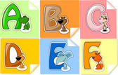 The letters to the alphabet for children — Vector de stock