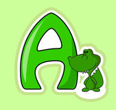 The letter A to the alphabet for children — Stockvector