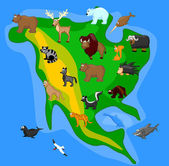 Animals of North America — Stock Vector