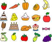 Conjunto de iconos de comida — Vector de stock