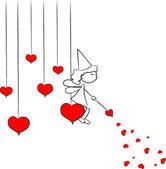 Love fairy vector — Stock Vector