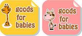 Tag, label goods for babies — Vecteur
