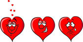 Hearts - love, flirting, unhappy — Stock Vector