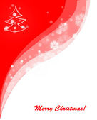 Red merry christmas background — Stock Vector