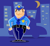 Fun police guard the city — Stock Vector