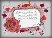 Grunge frame floral background — Stock Vector