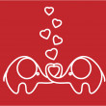 Cute love elephants, vector — Stock Vector #36350115