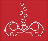可爱的爱大象、 矢量 — Διανυσματικό Αρχείο