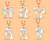 Wedding, bride and groom — Stock Vector