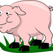 Pig, living on a farm — Imagen vectorial