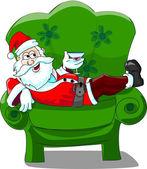 Santa Claus , christmas card — Vector de stock