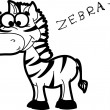 Cartoon zebra — Stock Vector #37446567