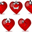 Heart on Valentine's Day, with different emotions — Stock Vector