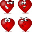 Heart on Valentine's Day, with different emotions — Stock Vector #37447105