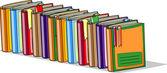 Cartoon school books — Stock Vector