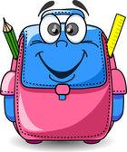 Cartoon School Bag — Stock Vector