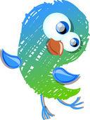 Cute bird — Stock Vector