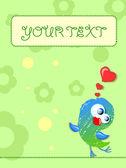 Lovely birds, card for your design — Stock Vector