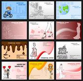 Набор с визитных карточек — Cтоковый вектор