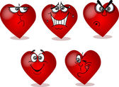 Heart on Valentine's Day, with different emotions — Stockvektor