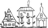 Искусство дома для вашего дизайна — Cтоковый вектор