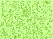 儿童绘画 — 图库矢量图片