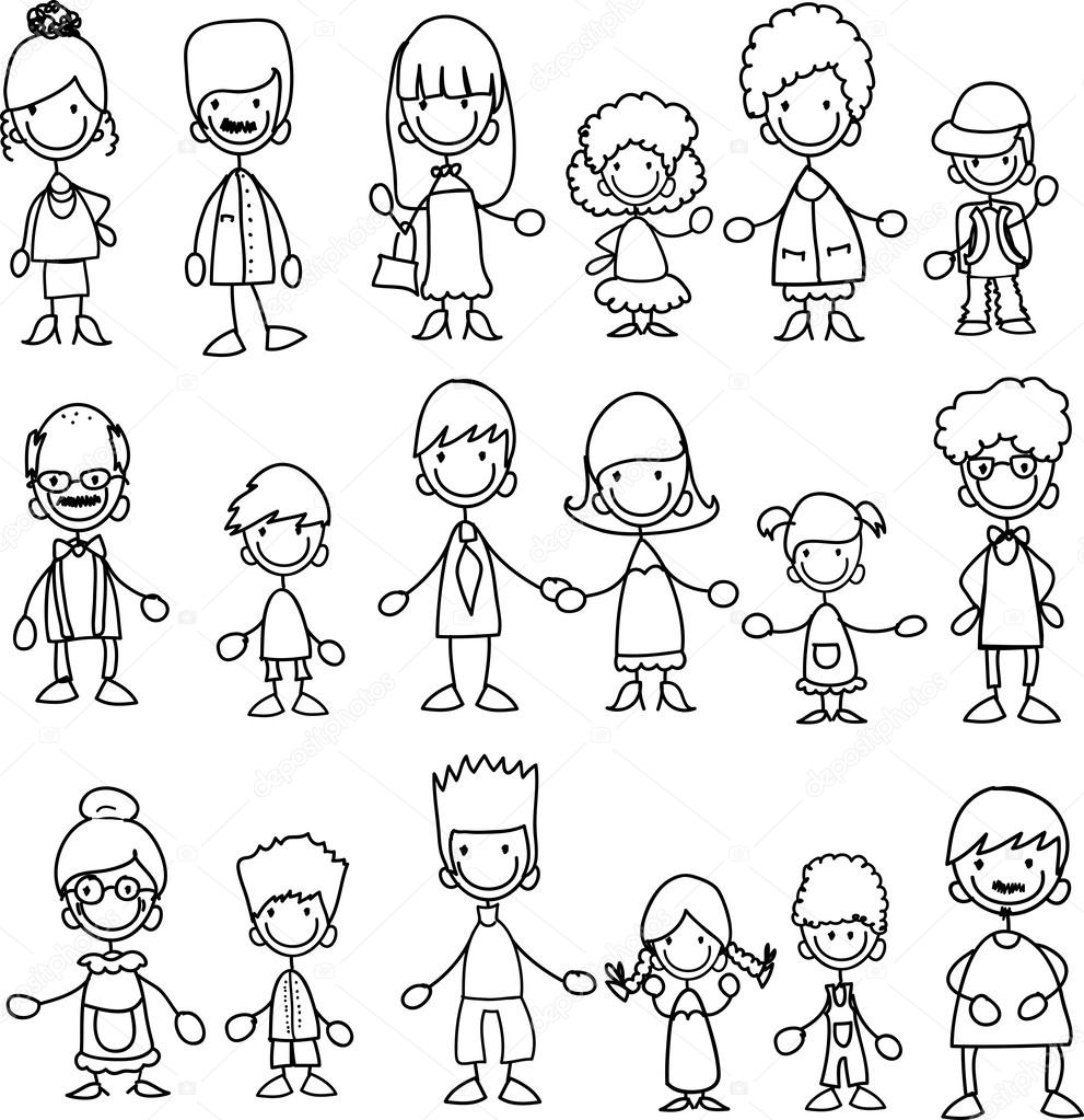 Big Family Members Colouring Pages Sketch Coloring Page