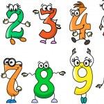 Cartoon numbers — Stock Vector #37455445
