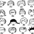 Cartoon cute faces — Stockvektor #37455625