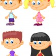 Set of cartoon cute children — Stockvektor #37455923