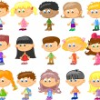 Set of cartoon cute children — Stockvektor #37455933